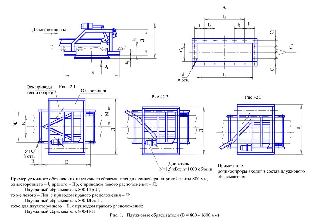 сбрасыватель плужковый конвейера ленточного ширина ленты конвейера 400 500 мм